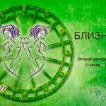 Вторая декада Близнецов (1 июня — 10 июня)